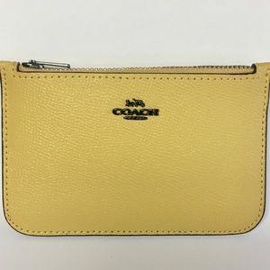 Authentic Coach zip card case